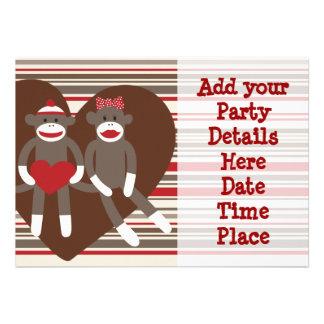 Sock Monkey Custom Party Invitations Templates