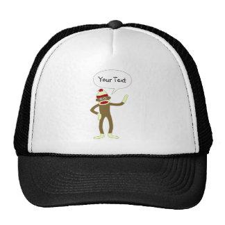 Sock Monkey Customizable Comic Speech Bubble Cap