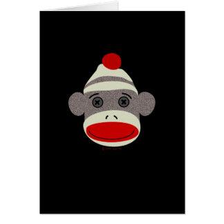 Sock Monkey Face Card