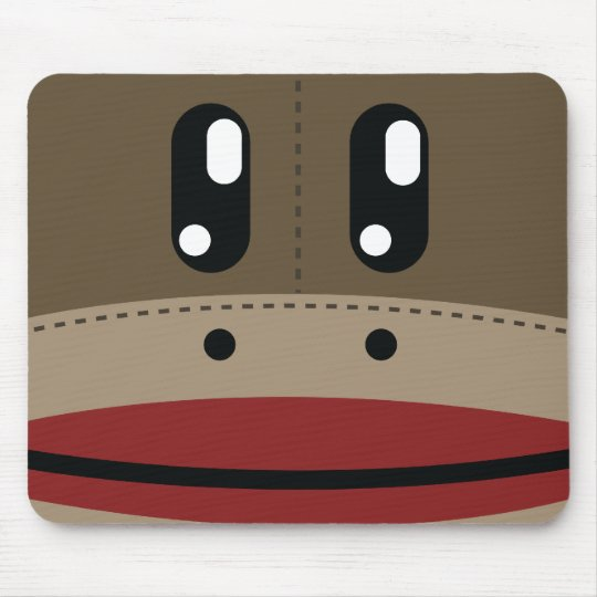 Sock Monkey Face Products Mouse Mat