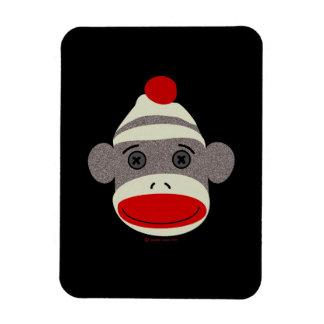 Sock Monkey Face Rectangular Photo Magnet