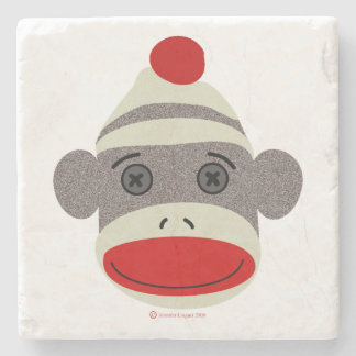 Sock Monkey Face Stone Coasters