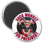 Sock Monkey for President Magnet