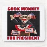 Sock Monkey for President Mousepad