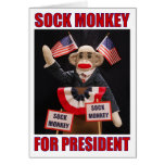 Sock Monkey for President Note Card