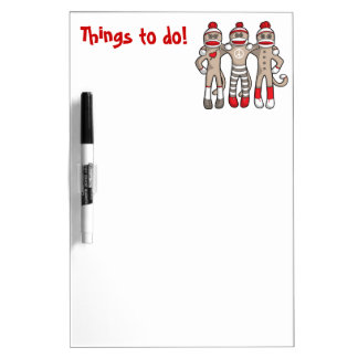 Sock Monkey Friends Forever Dry Erase Board