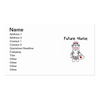 Sock  Monkey Future Nurse T-shirts and Gifts Business Card Template