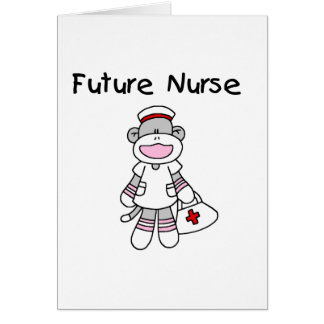 Sock  Monkey Future Nurse T-shirts and Gifts Card