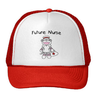 Sock  Monkey Future Nurse T-shirts and Gifts Mesh Hat