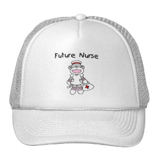 Sock  Monkey Future Nurse T-shirts and Gifts Hat