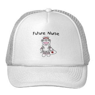 Sock  Monkey Future Nurse T-shirts and Gifts Hat