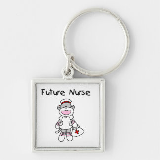 Sock  Monkey Future Nurse T-shirts and Gifts Keychains