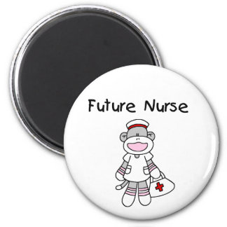 Sock  Monkey Future Nurse T-shirts and Gifts Magnets