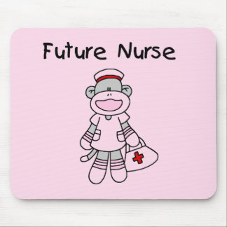 Sock Monkey Future Nurse T-shirts and Gifts Mouse Pad