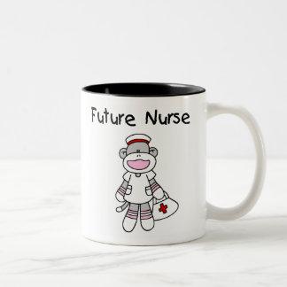 Sock  Monkey Future Nurse T-shirts and Gifts Coffee Mugs