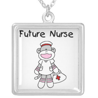 Sock  Monkey Future Nurse T-shirts and Gifts Custom Necklace