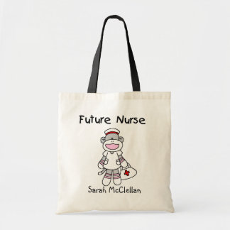 Sock  Monkey Future Nurse T-shirts and Gifts Canvas Bags