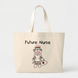 Sock  Monkey Future Nurse T-shirts and Gifts Canvas Bag
