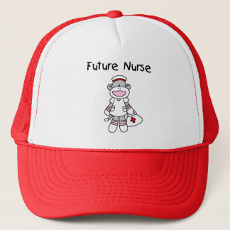 Sock  Monkey Future Nurse T-shirts and Gifts Trucker Hat