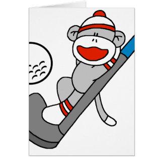 Sock Monkey Golf Cards