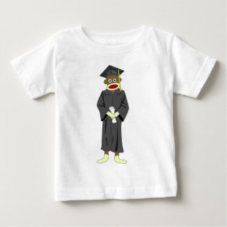 Sock Monkey Graduation Baby T-Shirt
