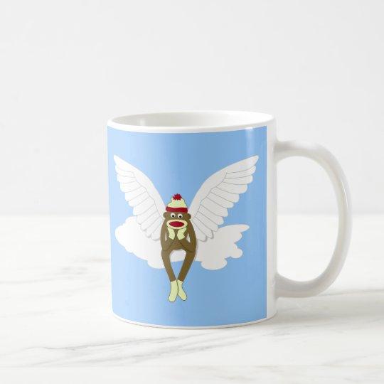 Sock Monkey Guardian Angel Coffee Mug