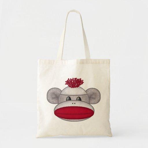 Sock Monkey Head Budget Tote Bag