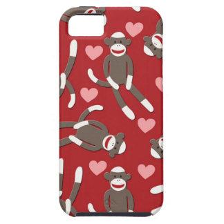 Sock Monkey Hearts iPhone 5 Cover