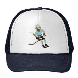 Sock Monkey Hockey Player Cap