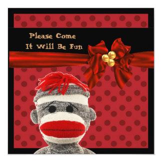 SOCK MONKEY Holiday Party INVITATIONS