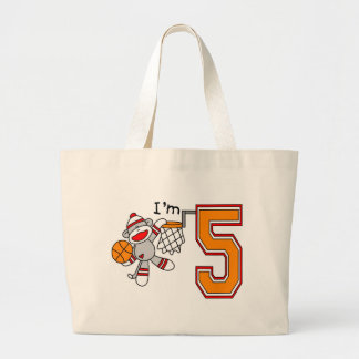 Sock Monkey Hoops 5th Birthday Bags