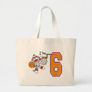 Sock Monkey Hoops 6th Birthday Bag