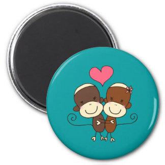 Sock Monkey Hugz Magnets