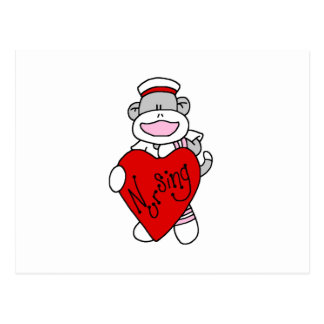 Sock Monkey I Love Nursing T-shirts and Gifts Postcard