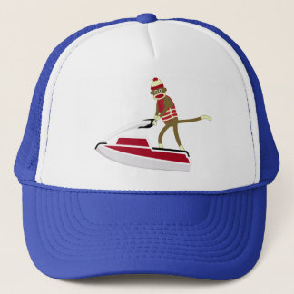 Sock Monkey Jetski Trucker Hat