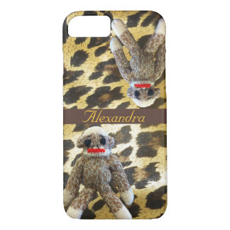 Sock Monkey Leopard Print iPhone 8/7 Case