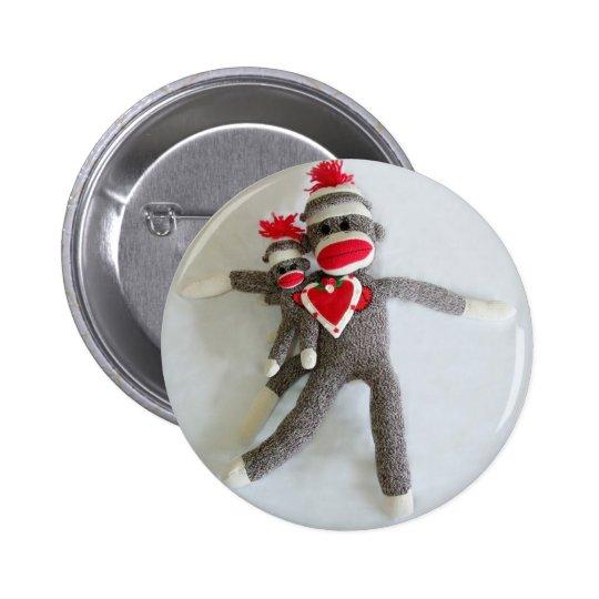Sock Monkey Love #1 6 Cm Round Badge