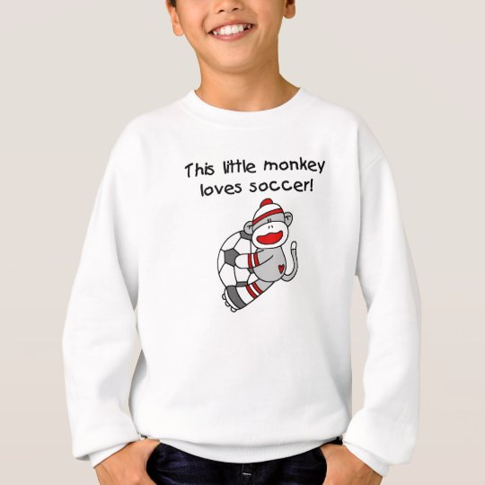 Sock Monkey Loves Soccer T shirts and Gifts