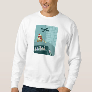 Sock Monkey Martini Bar Sweatshirt
