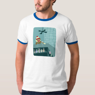 Sock Monkey Martini Bar Tshirt