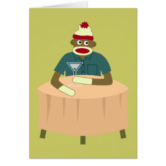Sock Monkey Martini Nightclub Card