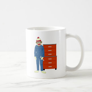 Sock Monkey Mechanic Coffee Mug