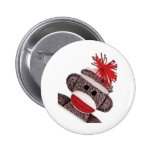 Sock Monkey merchandise products gifts Button