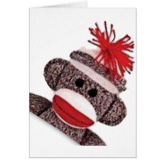Sock Monkey merchandise products gifts Greeting Card