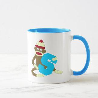 Sock Monkey Monogram Boy S Mug
