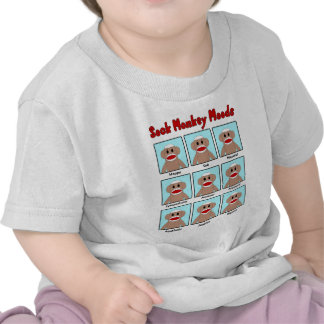 Sock Monkey Moods Infant s T-Shirt