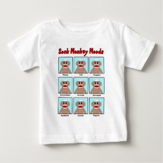 Sock Monkey Moods Infant's T-Shirt
