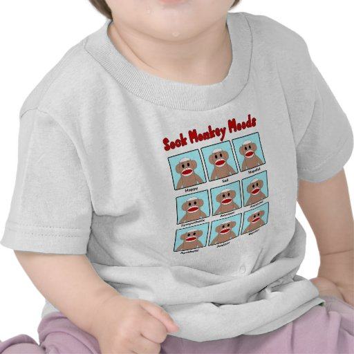 Sock Monkey Moods Infant's T-Shirt