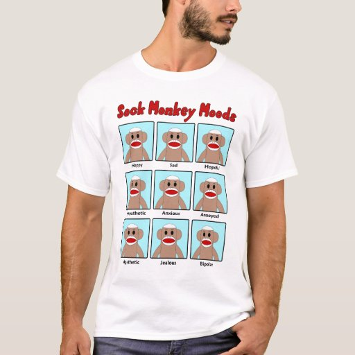 Sock Monkey Moods Men's T-Shirt