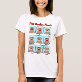 Sock Monkey Moods Women's T-Shirt